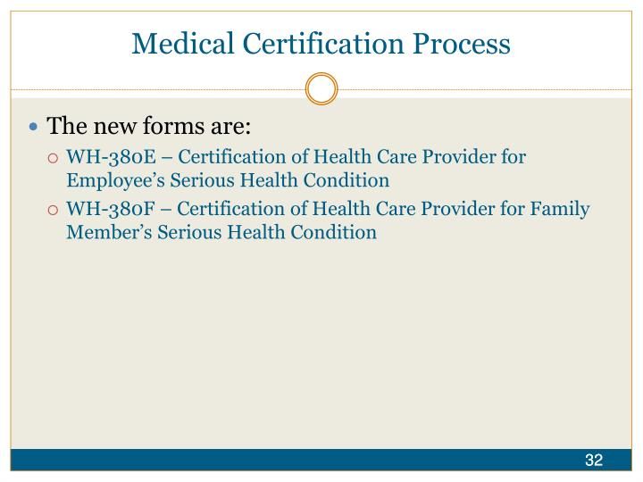 Medical Certification Process