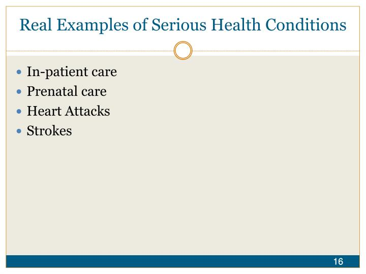Real Examples of Serious Health Conditions