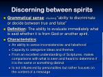 discerning between spirits