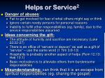 helps or service 2