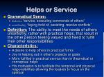 helps or service