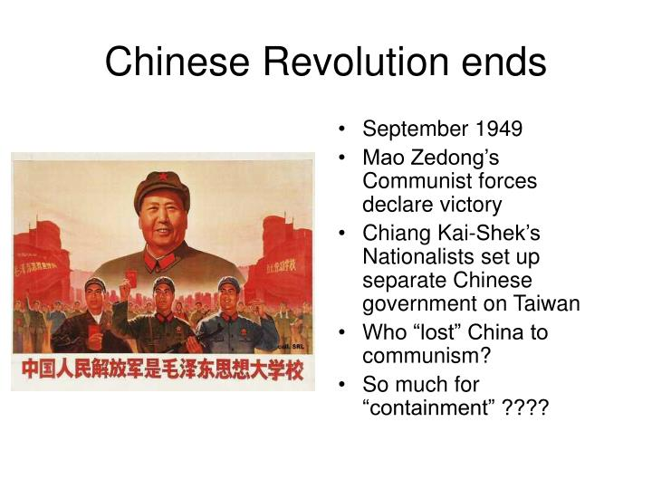 Chinese Revolution ends