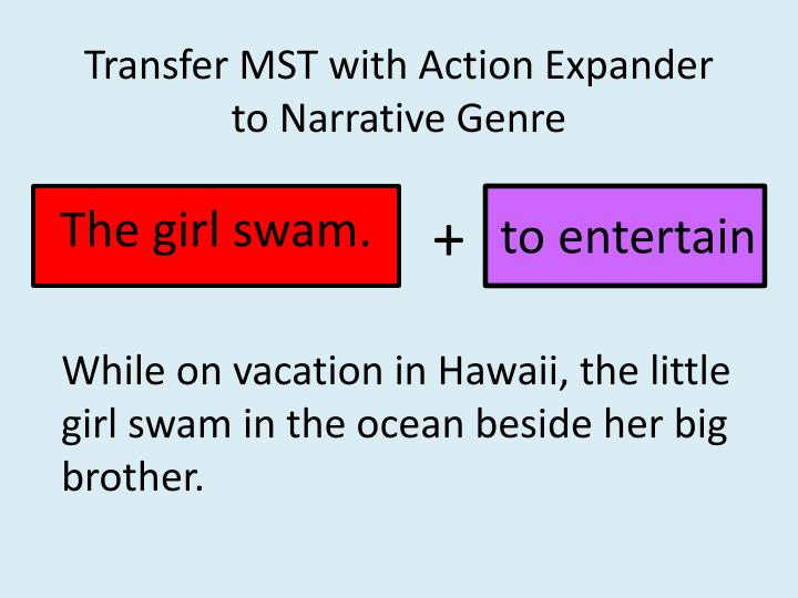 Transfer MST with Action Expander