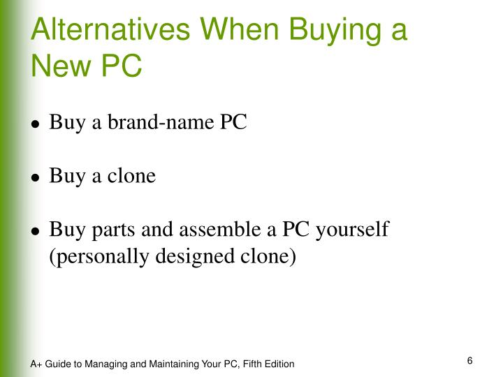 Alternatives When Buying a New PC