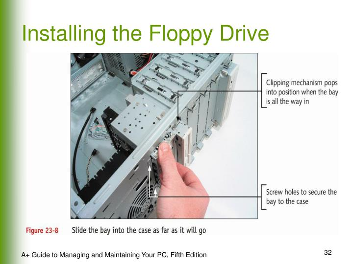 Installing the Floppy Drive