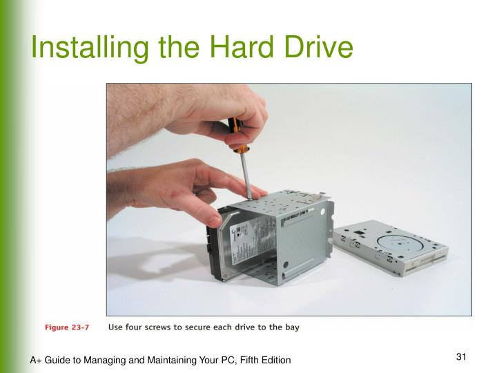 Installing the Hard Drive