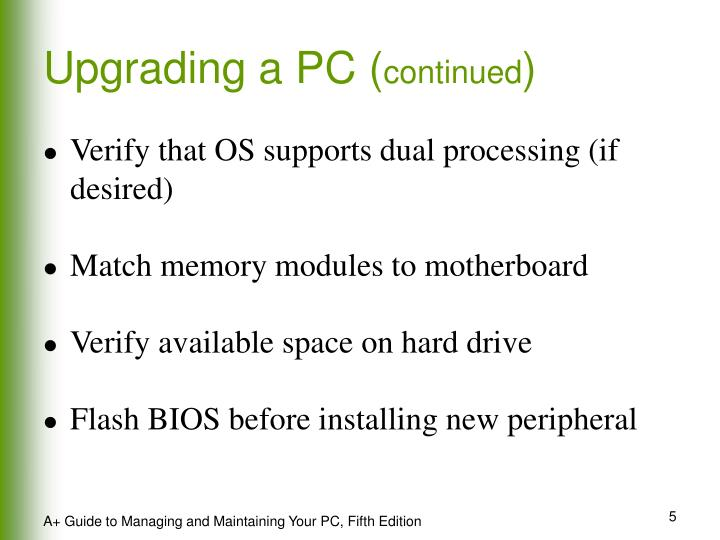 Upgrading a PC (