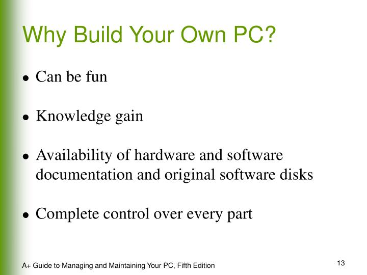 Why Build Your Own PC?