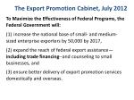 the export promotion cabinet july 2012