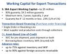 working capital for export transactions1