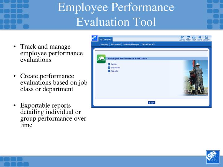 Employee Performance Evaluation Tool
