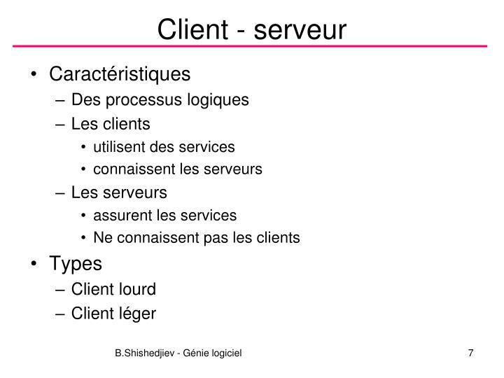 Client - serveur