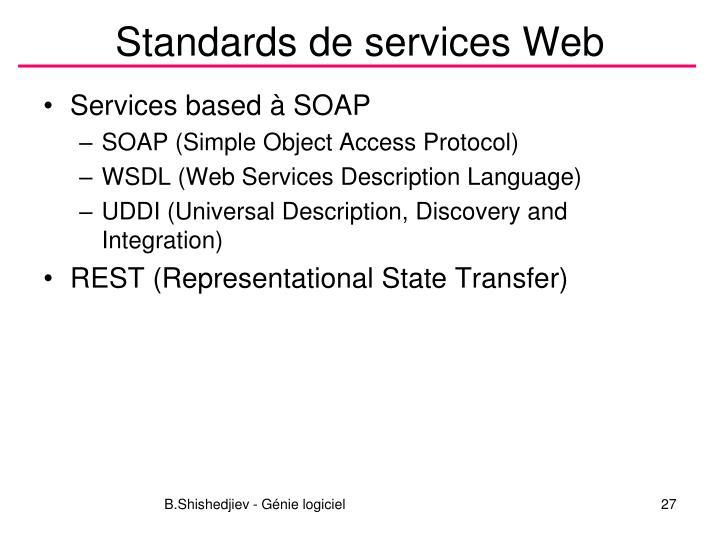 Standards de services Web