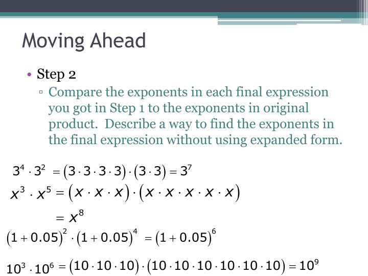 Ppt Lesson 63 Multiplication And Exponents Powerpoint