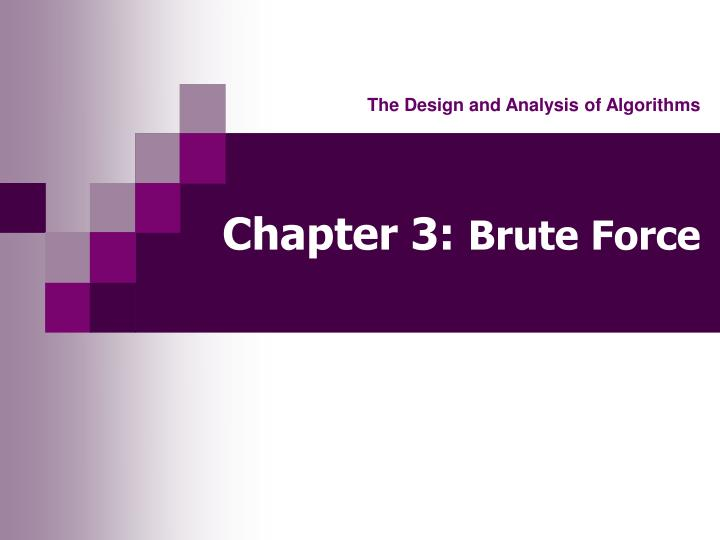 chapter 3 brute force n.