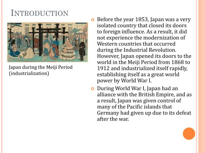 japan during the meiji period But during the meiji period, the emperor had been transformed into a leader for the entire nation of japan regardless of their class or home region, people developed a strong sense of common identity as japanese with respect for the emperor as their head of state.