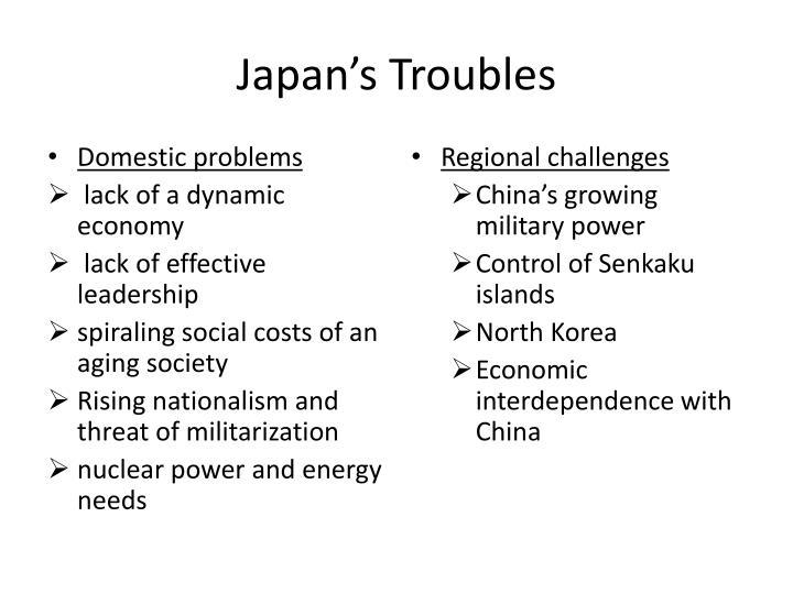 Japan's Troubles
