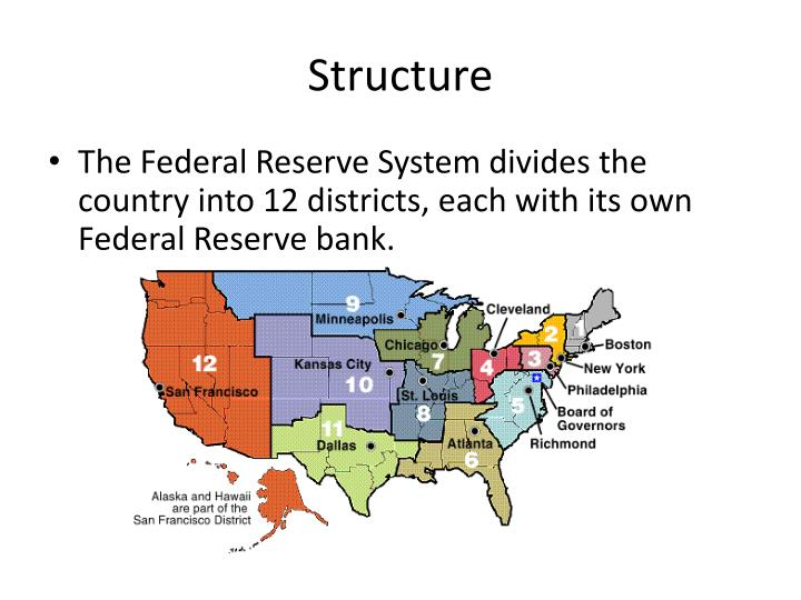 Federal Reserve System Structure PPT - The Federal Rese...