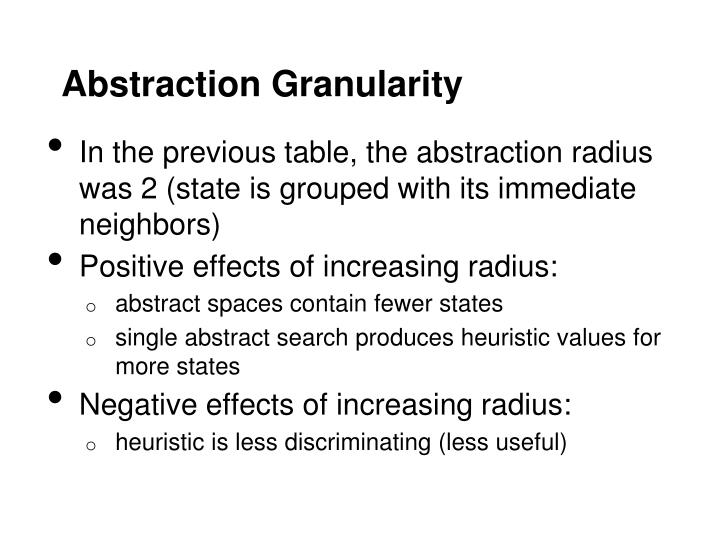 Abstraction Granularity