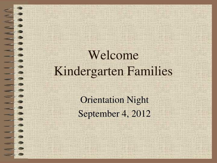 welcome kindergarten families n.