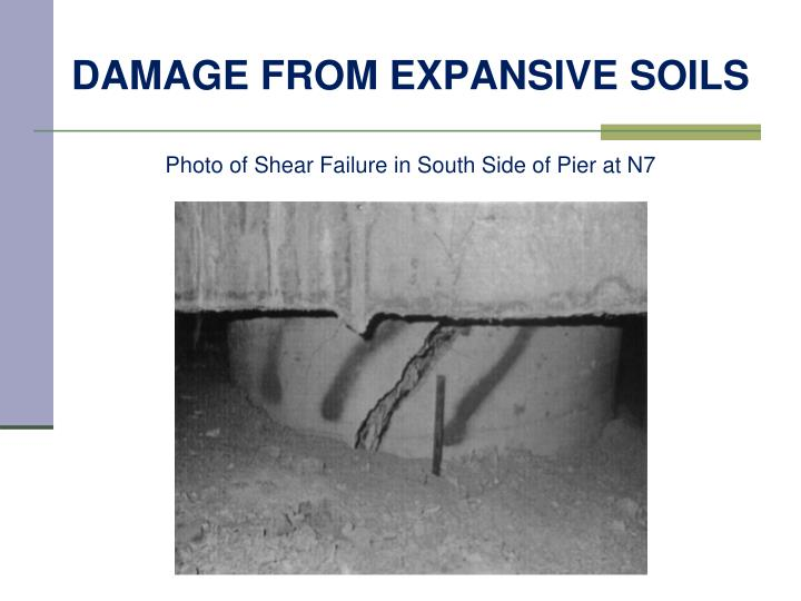 Damage from expansive soils