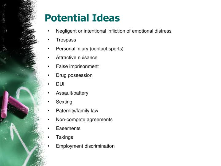 Potential Ideas