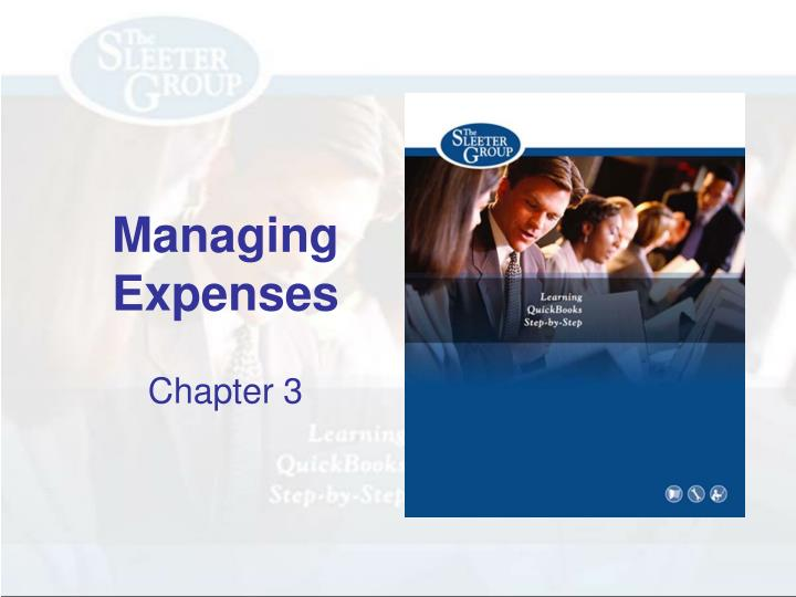 managing expenses n.