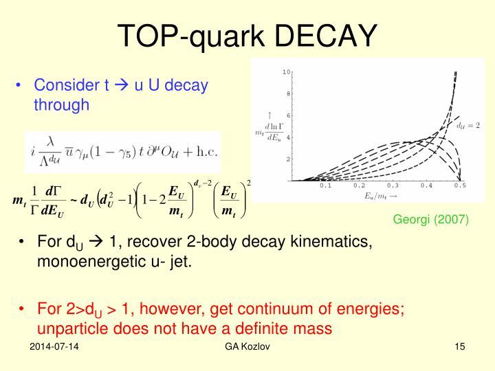 TOP-quark DECAY
