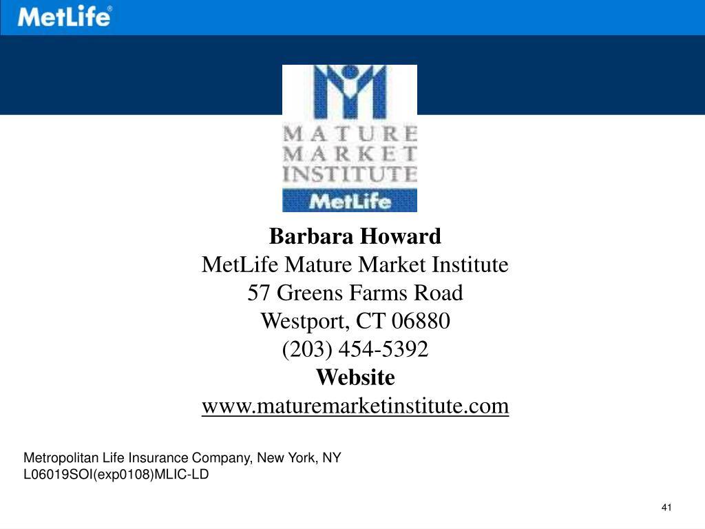 Metlife mature market institute