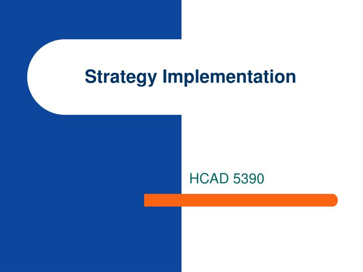 strategy implementation n.