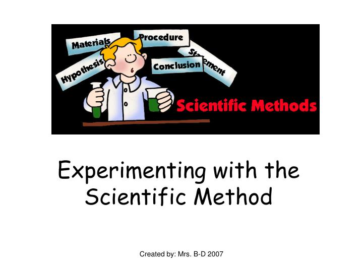 experimenting with the scientific method n.