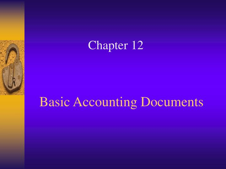 basic accounting documents n.