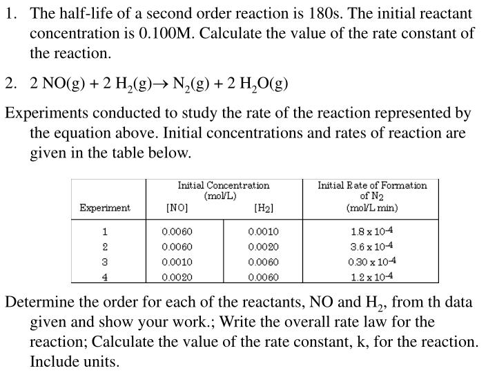 how to write a rate law for a reaction