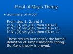 proof of may s theory3