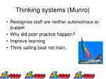 thinking systems munro