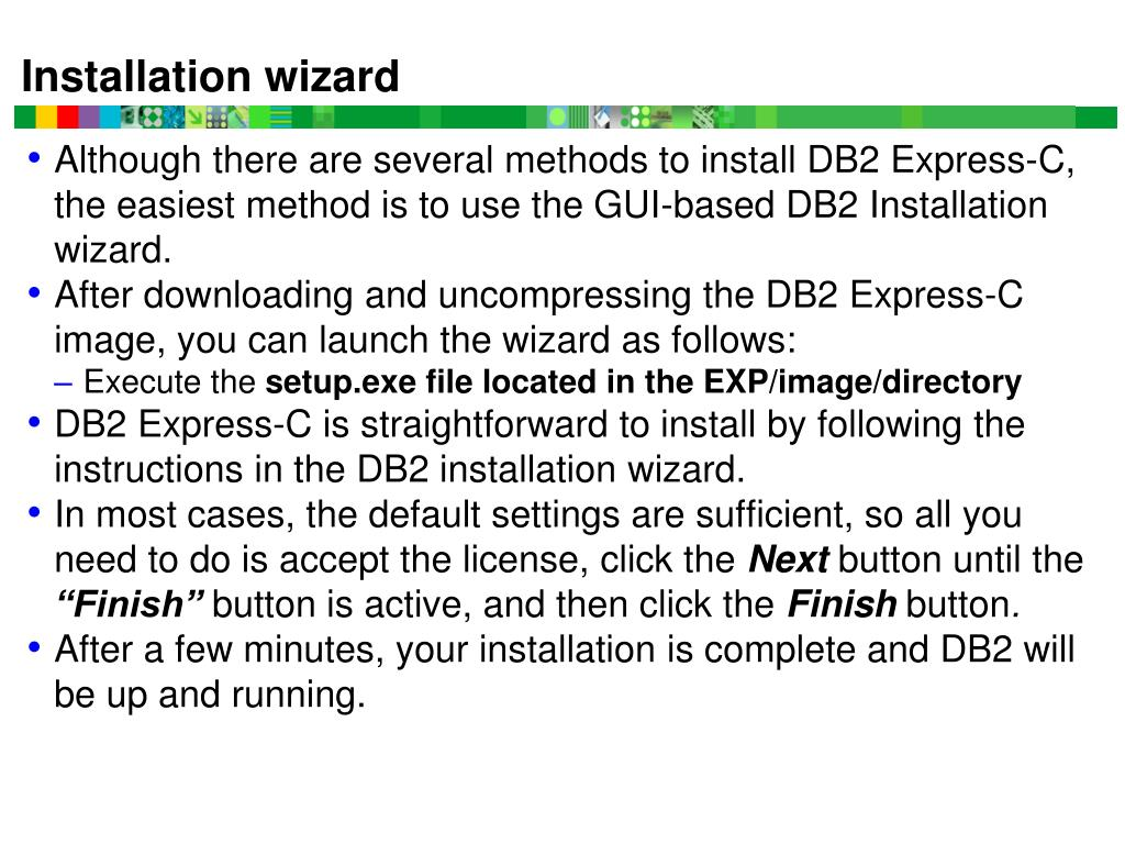 PPT - DB2 (Express C Edition) Installation and Using a