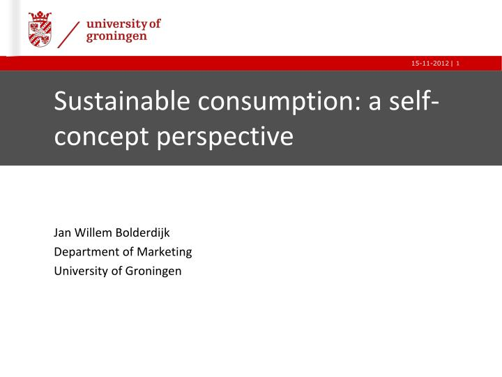 sustainable consumption a self concept perspective n.