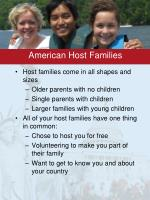 american host families