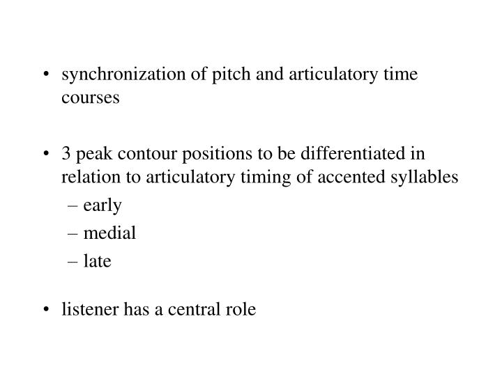 synchronization of pitch and articulatory time courses