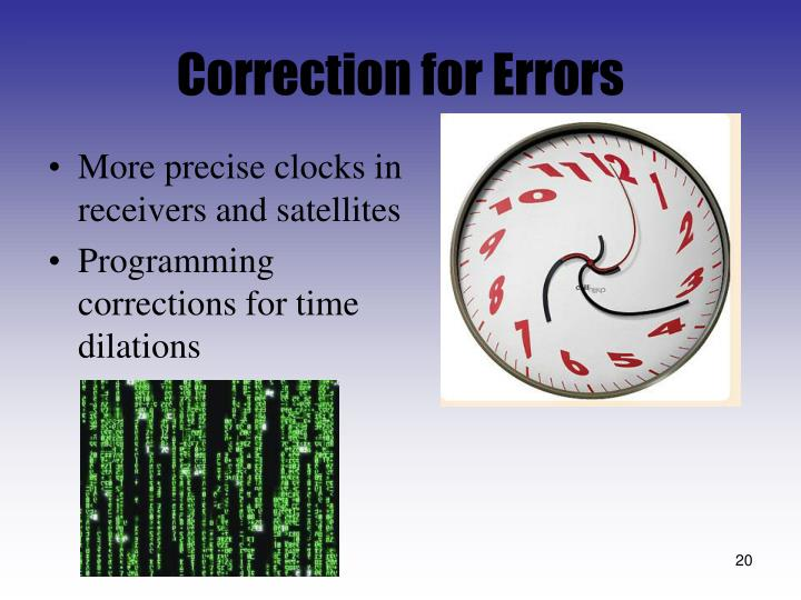 Correction for Errors
