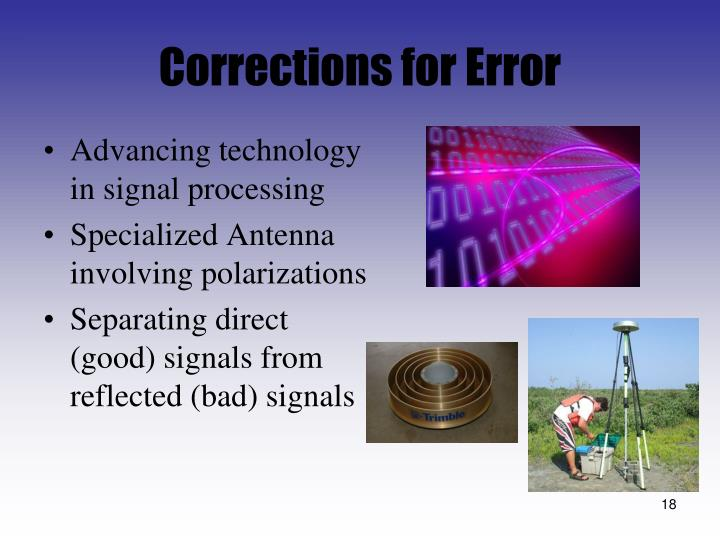 Corrections for Error