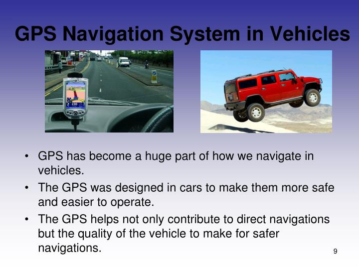 GPS Navigation System in Vehicles