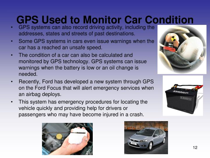 GPS Used to Monitor Car Condition
