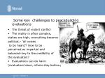some key challenges to peacebuilding evaluations