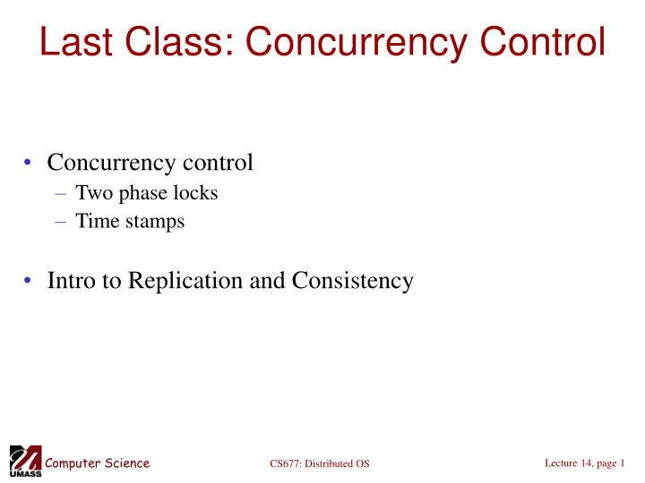 last class concurrency control n.