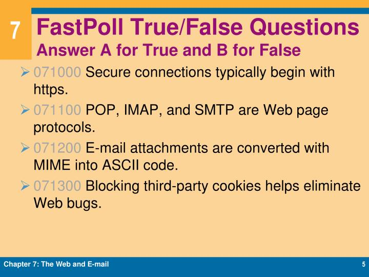 FastPoll True/False Questions