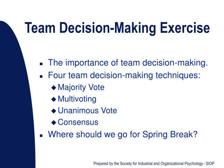 Team Decision-Making Exercise