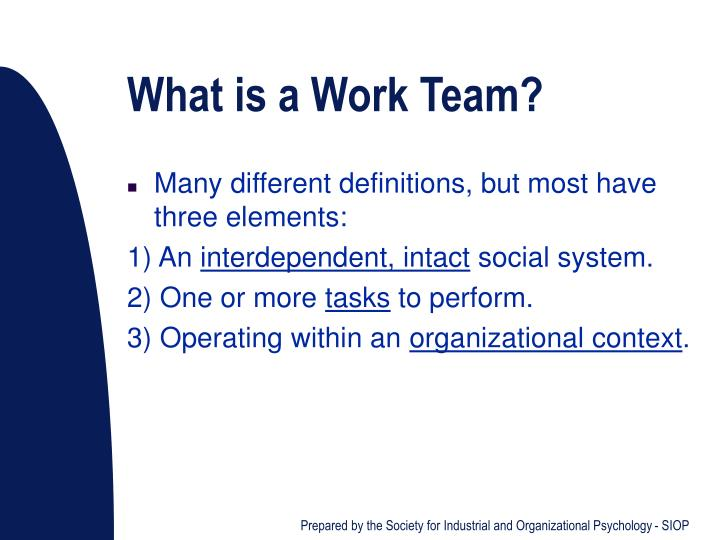 What is a Work Team?
