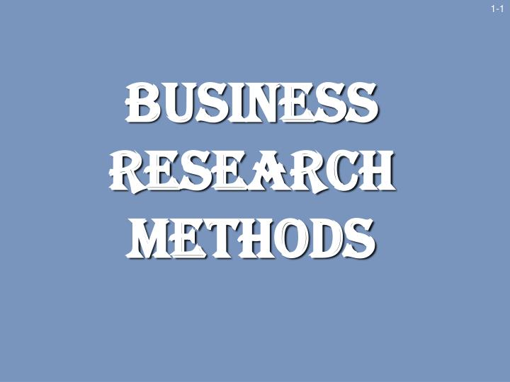 Research methods powerpoint presentation