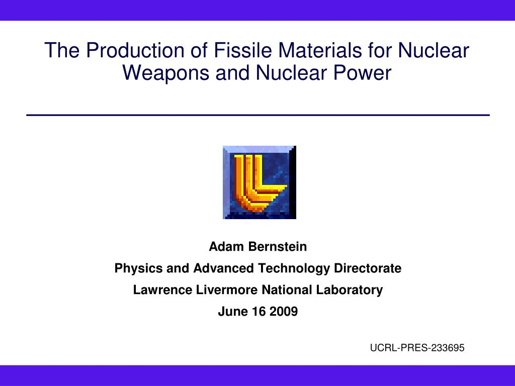 Ppt The Production Of Fissile Materials For Nuclear Weapons And Power Plant Diagram N